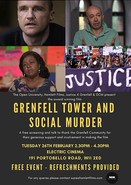 Grenfell Tower and Social Murder Poster